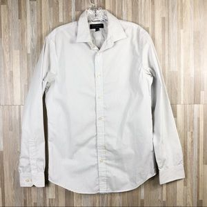 Banana Republic | White Black Stripes Button down